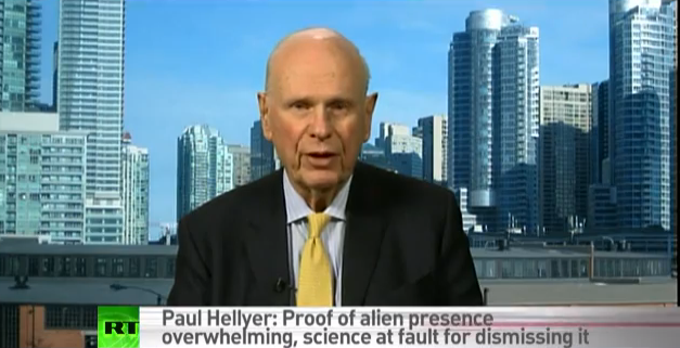 Paul Hellyer im Interview mit Russia Today zu Aliens. Foto: You Tube